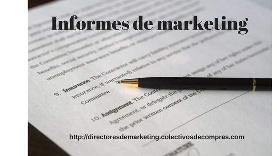 informes de marketing